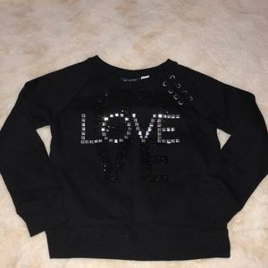 "Black ""love"" sweatshirt"